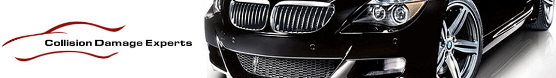 CDE Collision Center logo with car image