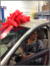 Mom wins car at C.D.E.