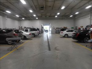 auto body repair portage inside shop