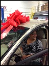 Mom wins car at C.D.E.