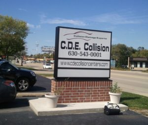 auto body repair addison cde sign