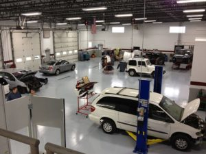 auto body repair crown point interior