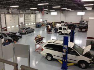 auto body repair crown point interior