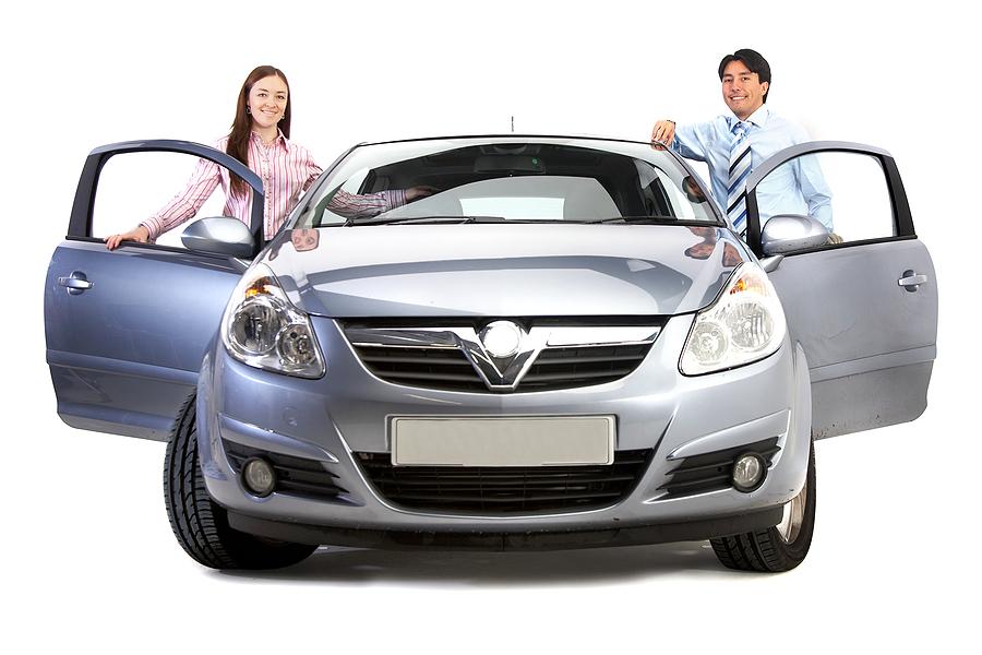 rental car after a car accident